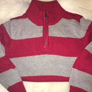 Other - Gray/Red Sweater & Black Corduroy Pant
